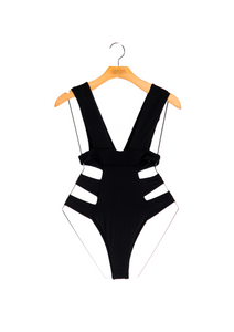 BLACK SWIMSUIT ONE PIECE EXOTIC SEXY CUTT OUT STILL IMAGE