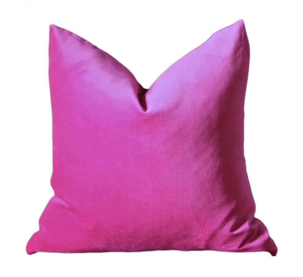Luxury Collection Hot Pink Rose Velvet Cushion Cover Various Sizes