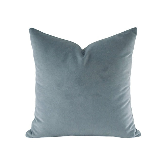 Luxury Mud Collection Blue Grey Cushion Cover