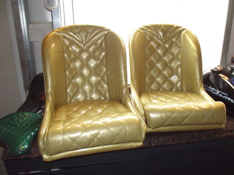 Gold Low Back Bucket Bomber Seats