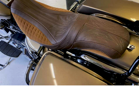 Evolution of the Stryker FLH motorcycle seat