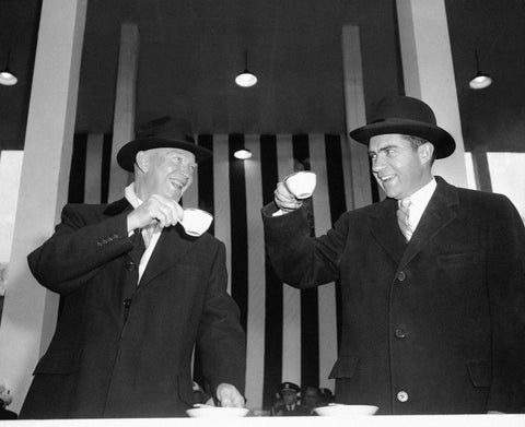 dwight eisenhower toasting with coffee cup