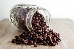 Mason Jar with Coffee Beans