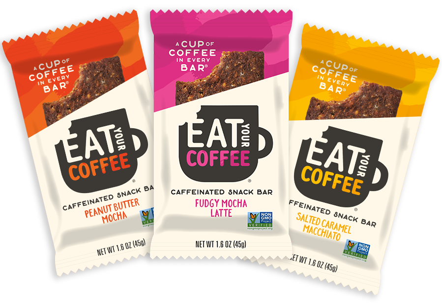 Eat Your Coffee Caffeinated Snack Bars Non GMO