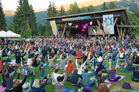Yoga At Summer Music Festival