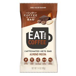 Keto Almond Mocha Snack Bars - Eat Your Coffee - Bars