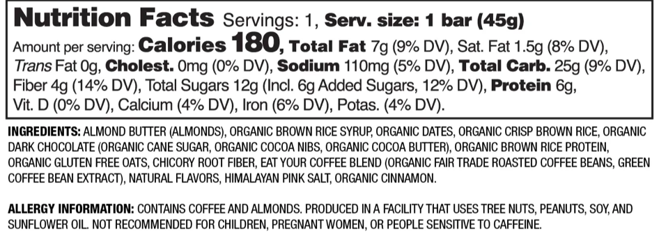 Nutrition Facts Fudgy Mocha Latte