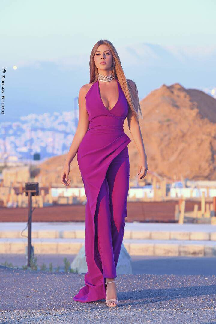 The Beautiful Carla Haddad Wearing Nathalie Karam Designs