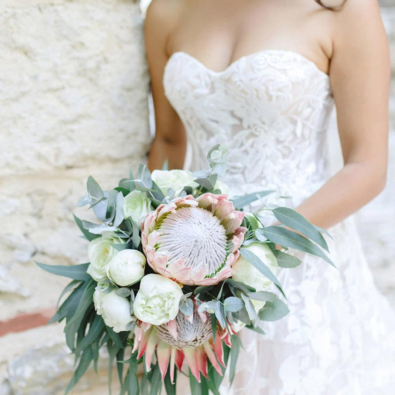 Ruffled Blog - Romantic Wedding in Athens with a Giant Floral Wreath