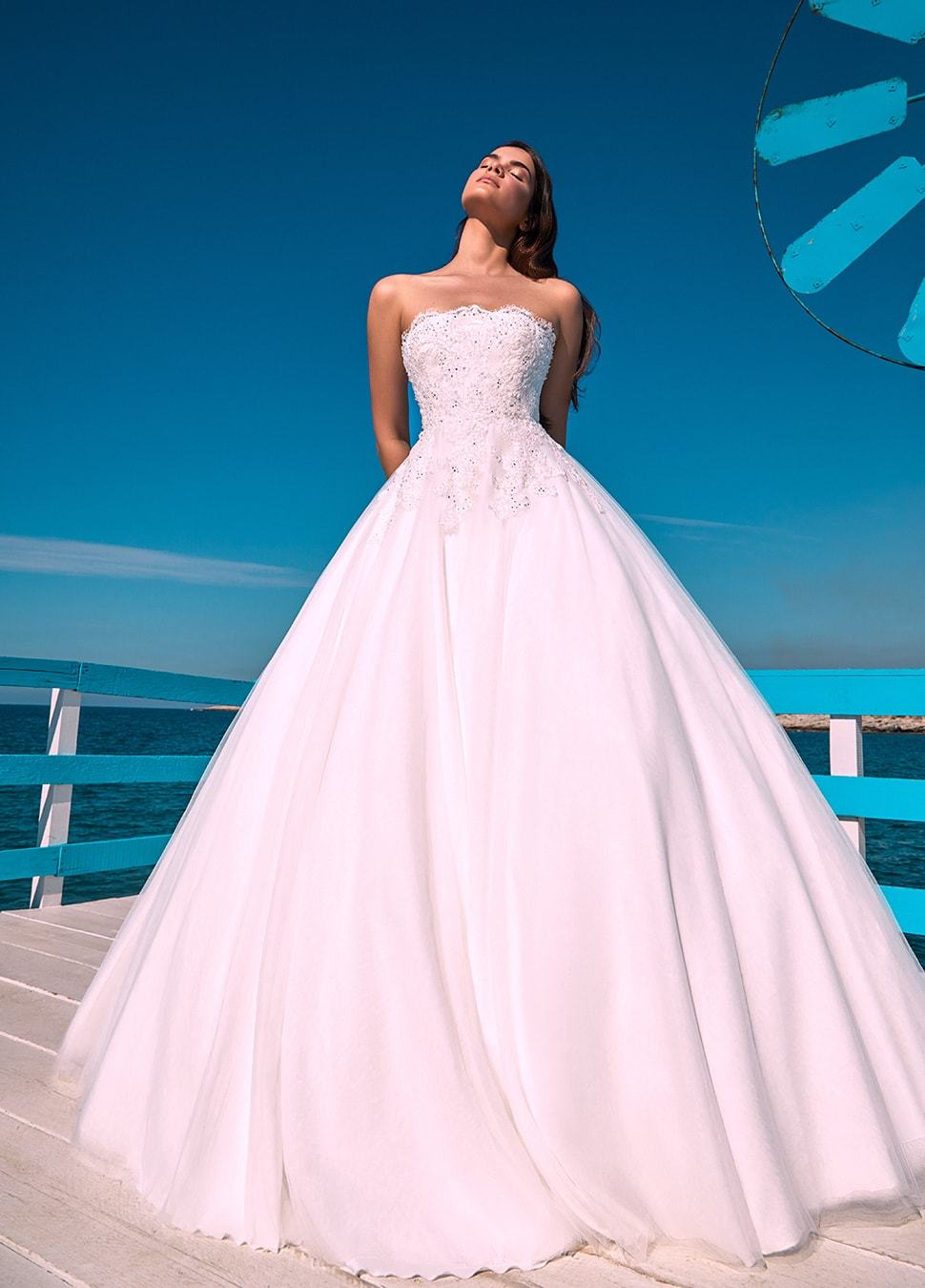 11128a61b6e EMBROIDERED BUSTIER LACE AND TULLE OFF WHITE DRESS – Nathalie Karam