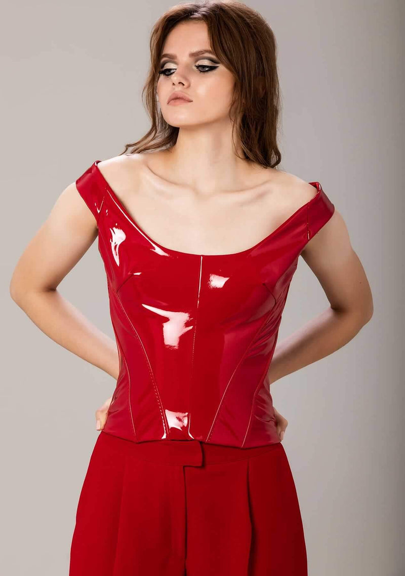 Lillith Red Latex Corset