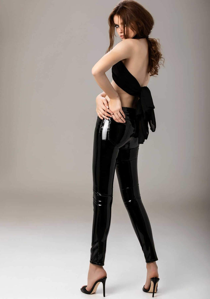 Thunderbolt Black Latex Pants