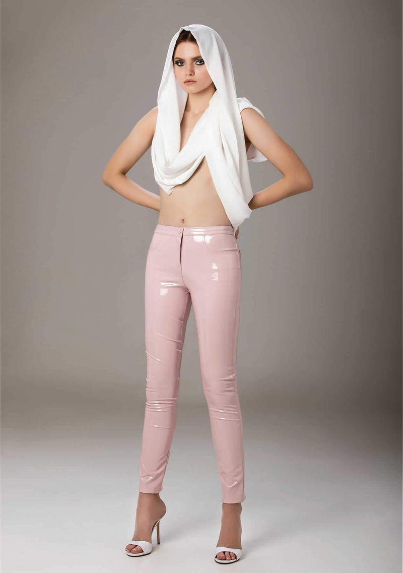 Thunderbolt Baby Pink Latex Pants