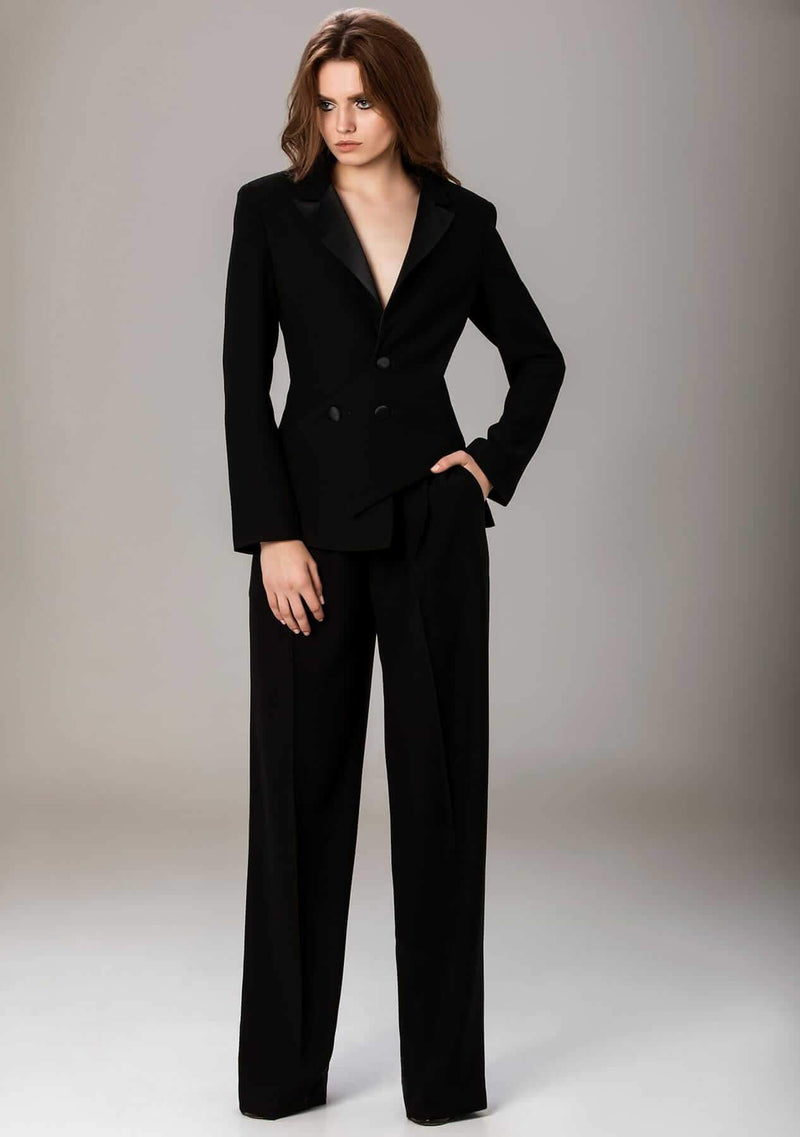 Mick Black crepe suit