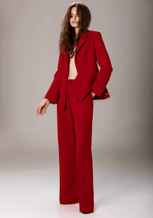 Mick Red crepe suit