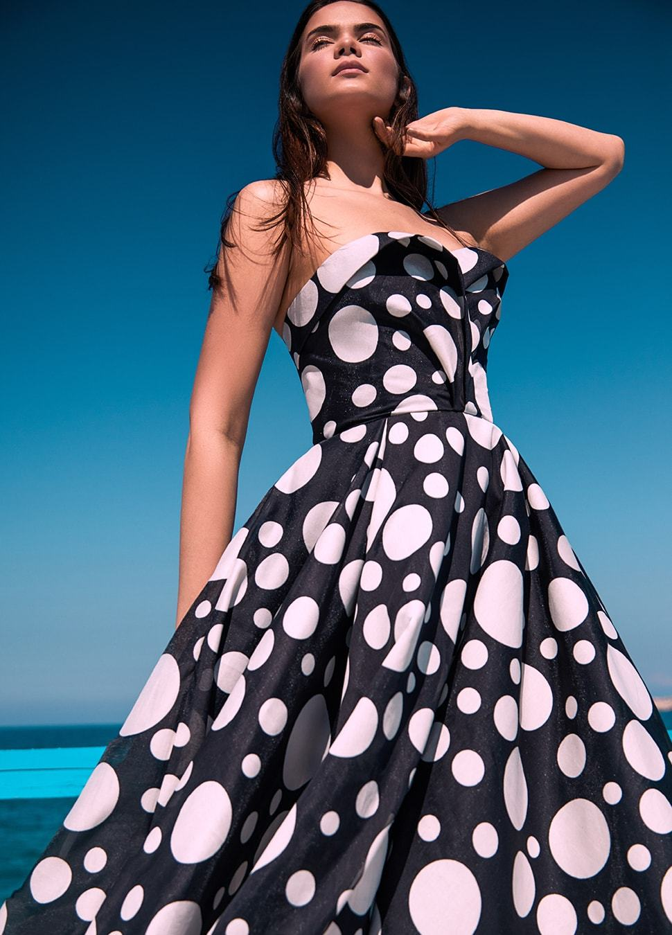 POLKA DOT BLACK AND WHITE DRESS