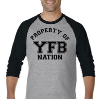 """Property of YFB Nation"" Baseball Tee"