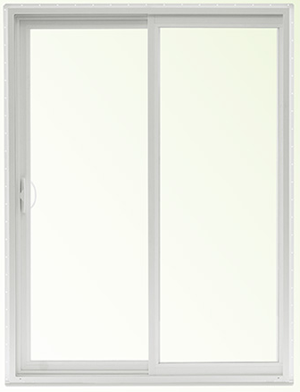 Windows To Go Sliding Patio Door, Tempered LowE with Argon, White Handles, Screen, Welded Frame with Nailing Fin and J-Channel