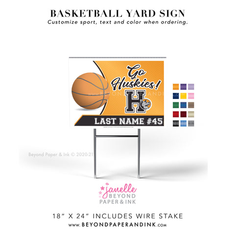 Basketball Yard Signs