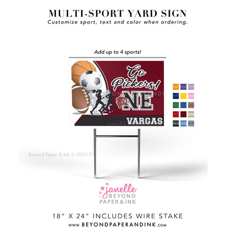 Multi-Sport Yard Signs