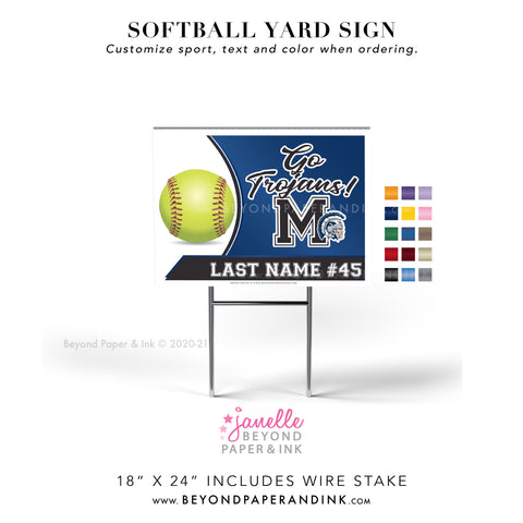 Softball Yard Signs