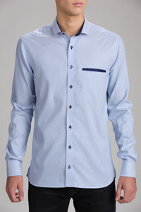 BALDUR SMALL CUT AWAY COLLAR SHIRT