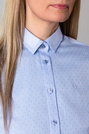 EMBLA SLIM FIT SHIRT W/COLLAR & CUFF EDGE DETAIL