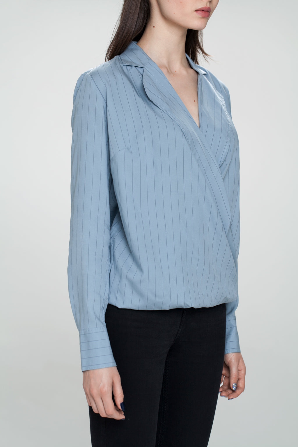 LAUFEY REVERE COLLAR AND FOLDED FRONT SHIRT