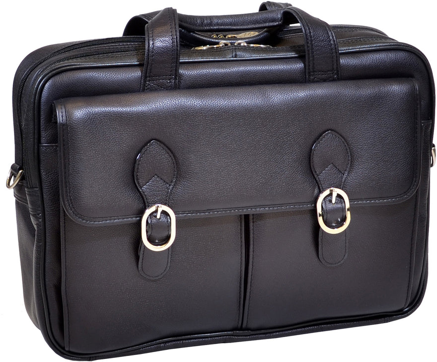 McKlein S Series Kenwood Leather Double Compartment Laptop Case