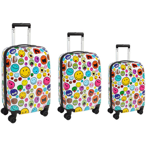 ATM Luggage Smiley World Celebration 3pc Set