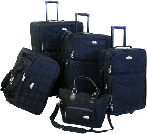 American Flyer Argyle 5 Piece Luggage Set