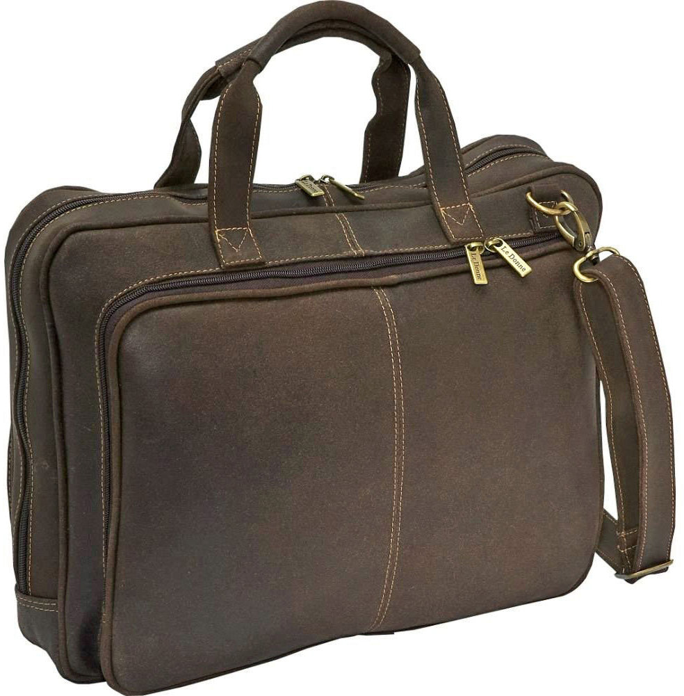 LeDonne Leather Distressed Laptop Brief