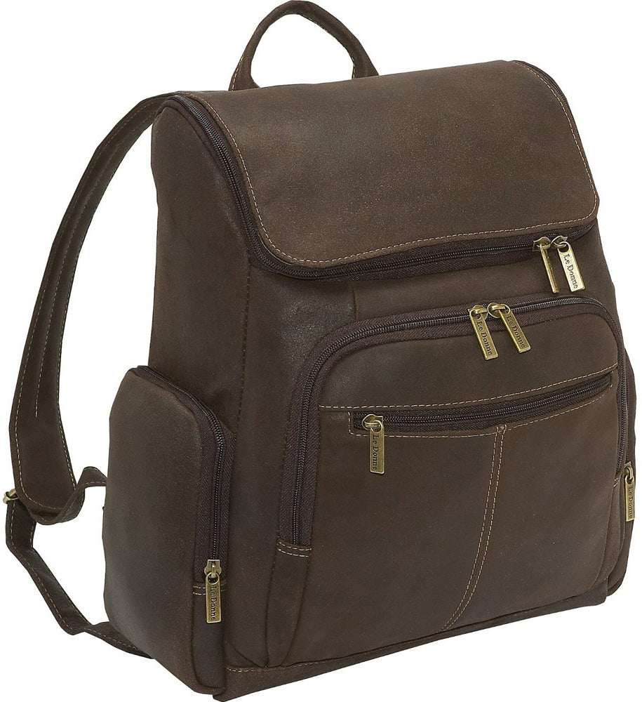 LeDonne Leather Distressed Laptop Backpack