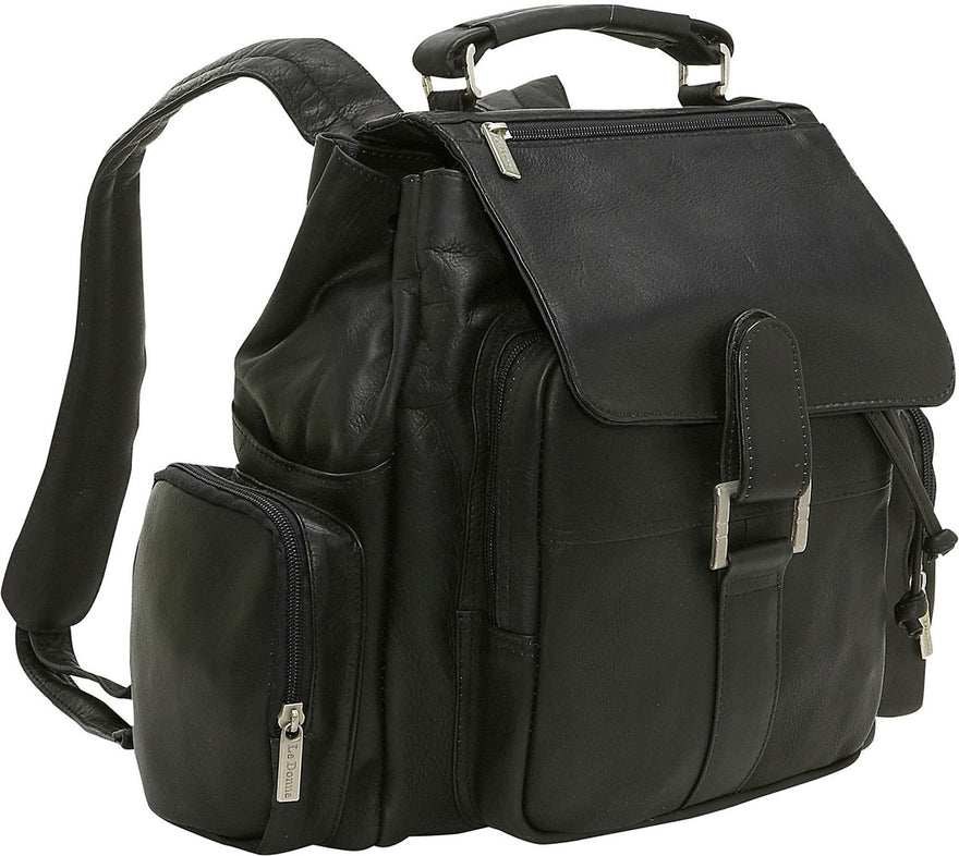 LeDonne Leather Classic Multi Pocket Backpack