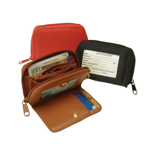 Royce Leather Credit Card ID Wallet w/Key Ring Organizer