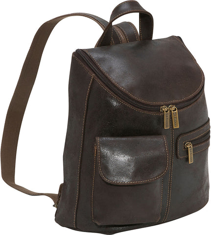 LeDonne Leather Distressed Womens Backpack/Purse