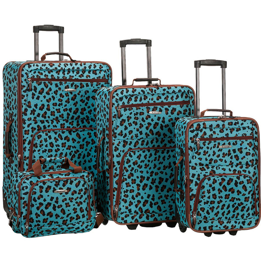 Rockland Luggage Safari 4 Piece Luggage Set