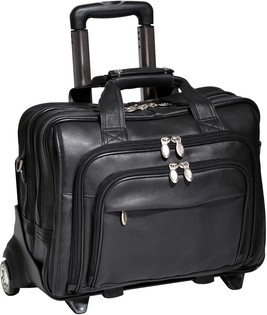 McKlein i Series Gold Coast Leather 17in Wheeled Laptop Case
