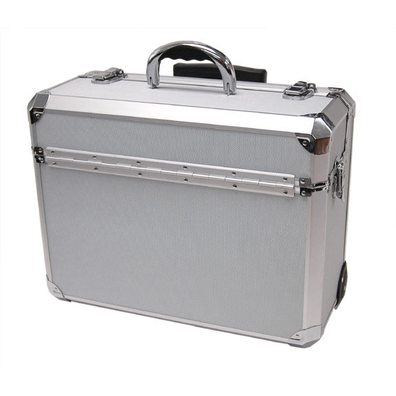 T.Z. Case Business Cases Aluminum Hexagon Wheeled Pilot Case