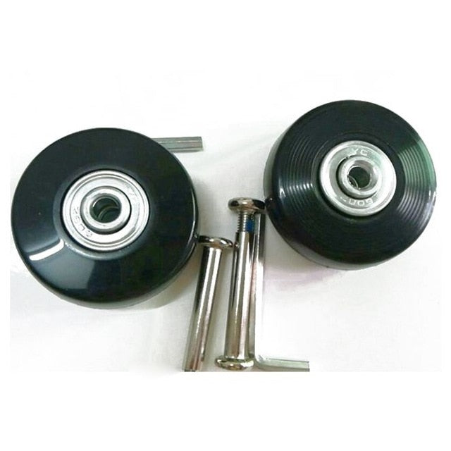 2 Sets of Luggage Suitcase Replacement Wheels Axles Deluxe Repair Tool 50*20*6.1 mm