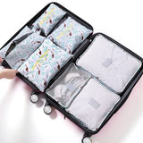 2017 New 7PCS/Set High Quality Oxford Cloth Travel Mesh Bag In Bag Luggage Organizer Packing Cube