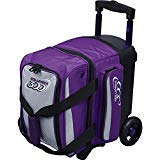 Columbia 300 Bowling Products 300 Icon Single Roller Bowling Bag- Purple/Silver