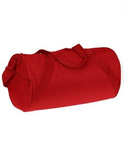 UltraClub Recycled Barrel Duffel Bag_One Size_Red
