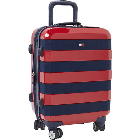 Tommy Hilfiger Rugby Stripe 21in Upright Carry On Spinner