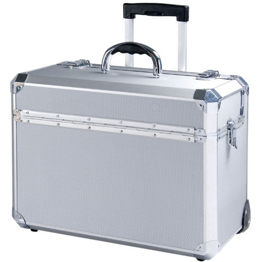 T.Z. Case Business Cases Aluminum Hexagon Wheeled Deep Pilot Case