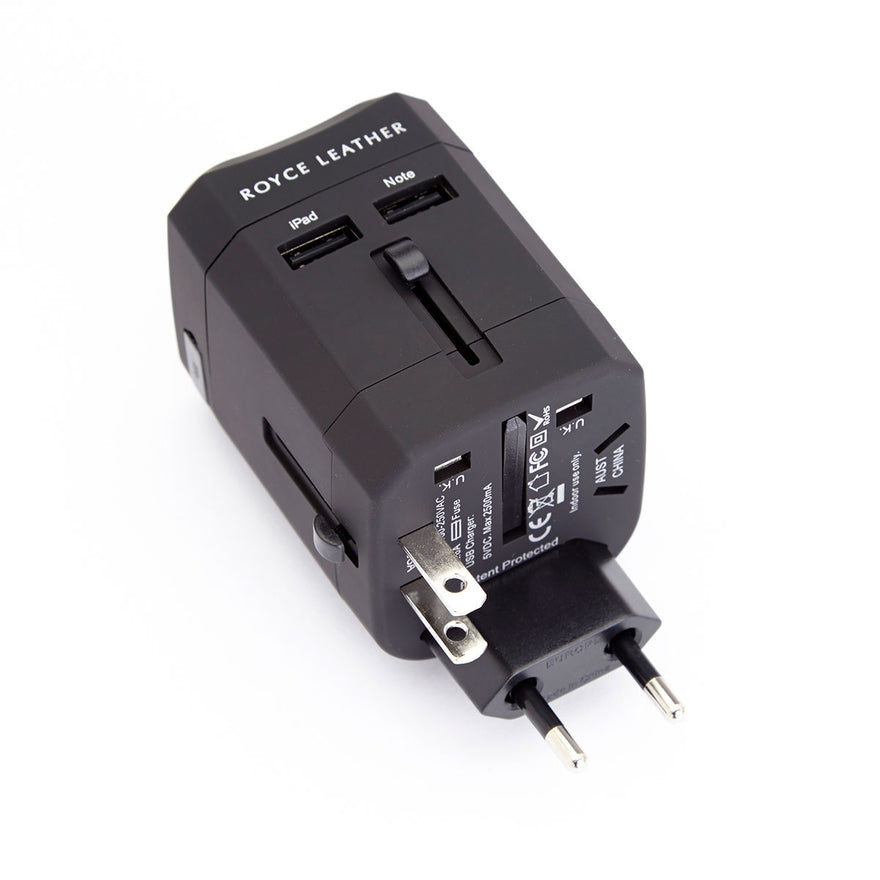 Royce Leather International Travel Adapter Wall Plug