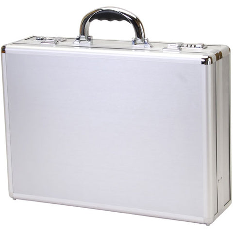 T.Z. Case Business Cases Aluminum Frame Silver Stripe Briefcase