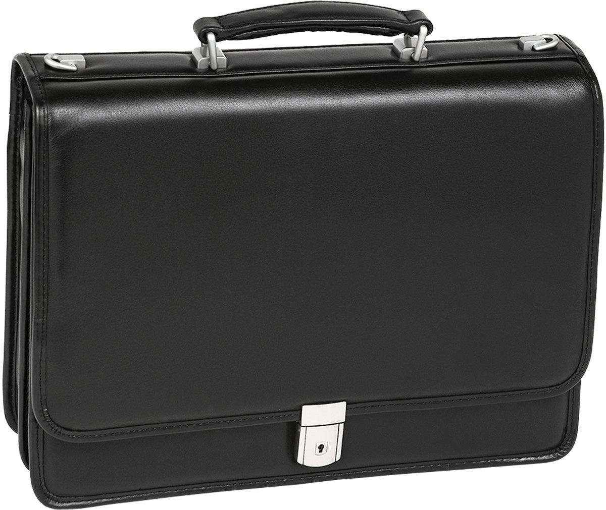 McKlein L Series Lexington Leather Flapover Dbl Compartment Laptop