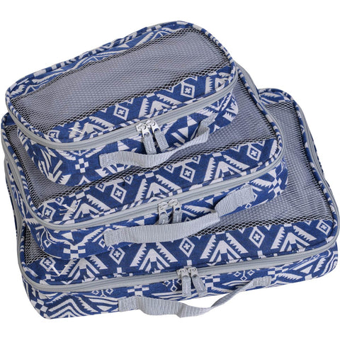 American Flyer Aztec 3pc Packing Cube Set