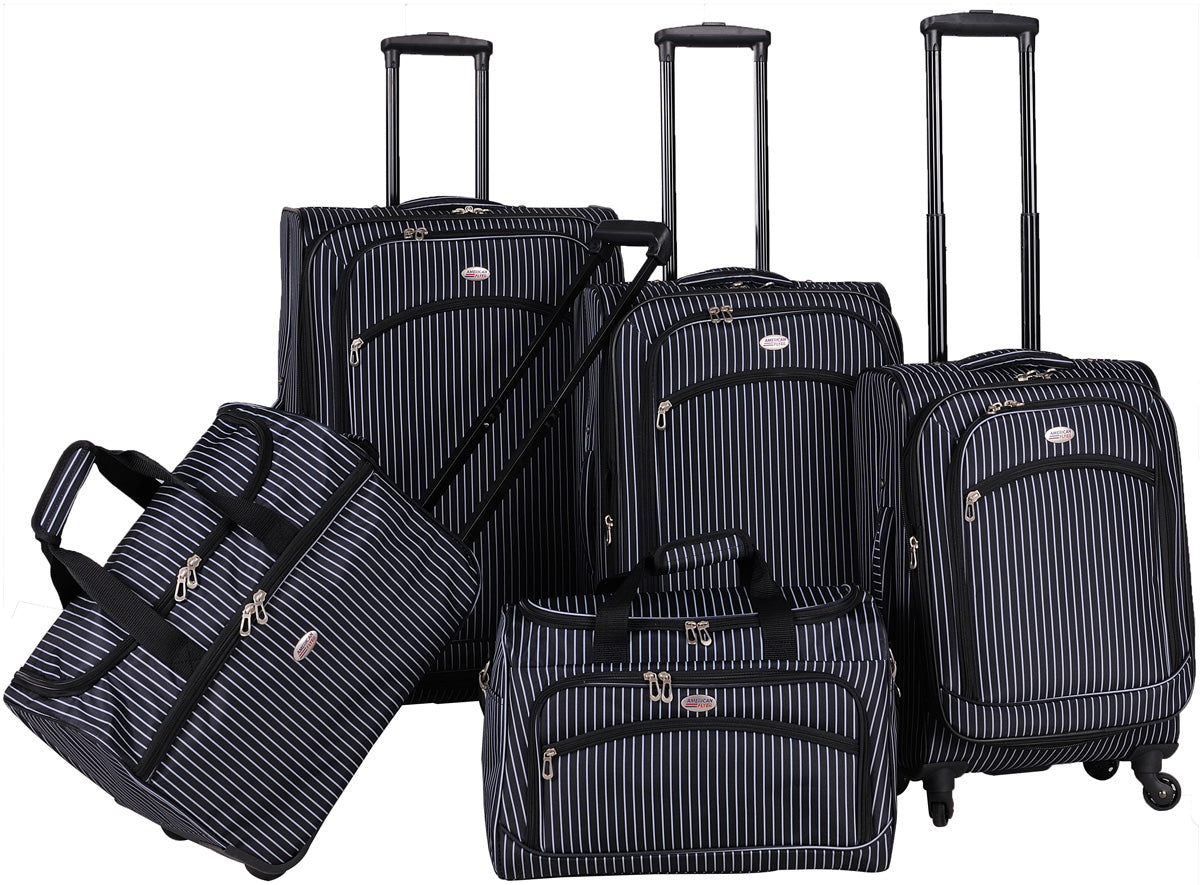 American Flyer Oxford 5 Piece Luggage Set